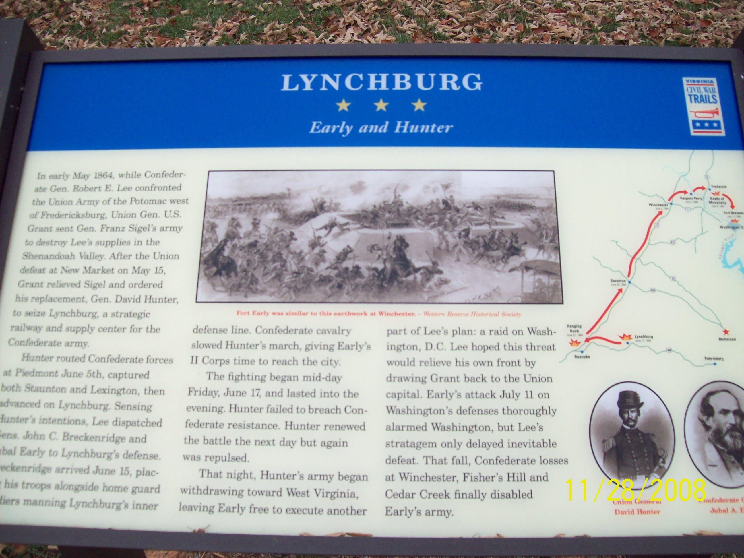 Battle of Lynchburg Plaque